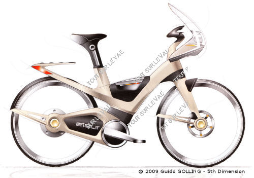 velo a assistance electrique futuriste - copyright Guido Golling - 5th Dimension